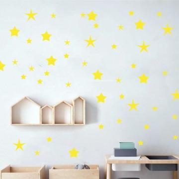 Adesivo estrelas amarelas