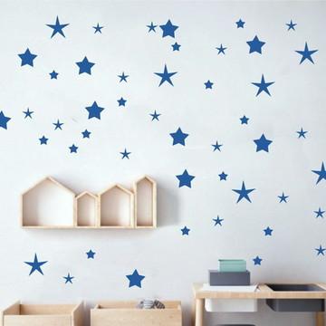 Adesivo estrelas azul marinho