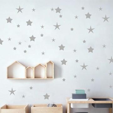 Adesivo estrelas cinza claro