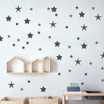 Adesivo estrelas cinza escuro