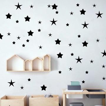 Adesivo estrelas pretas