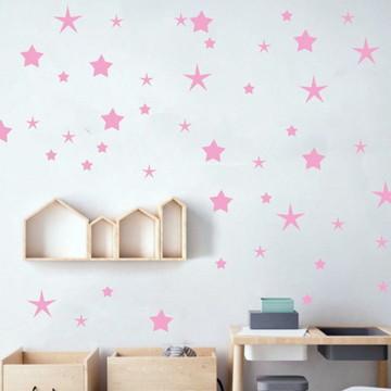 Adesivo estrelas rosa