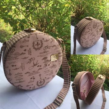 Bolsa artesanal redonda exclusiva