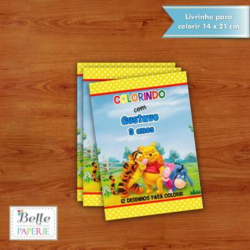 Livrinho para colorir do urso pooh