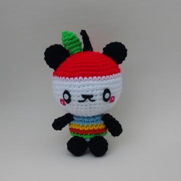 Pandapple (Hello Kitty) amigurumi