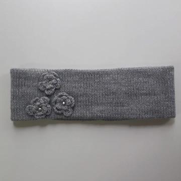 Faixa de cabelo em lã para inverno