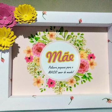 Quadro de papel personalizado dia das mães