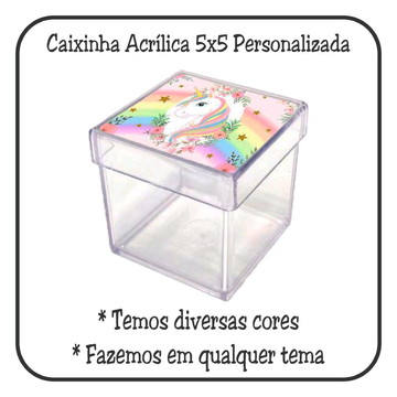 Caixinha 5x5 - Unicórnio