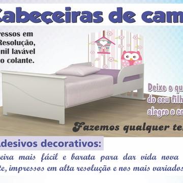 Adesivo Cabeceira Cama Infantil Corujas Corujinha Quarto