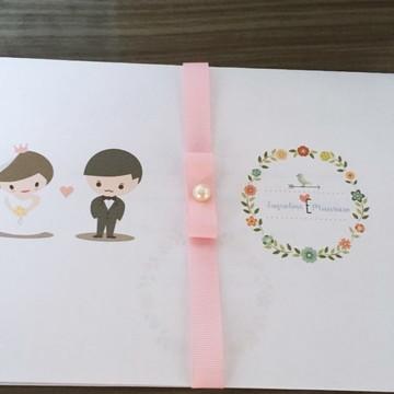 Convite Casamento Noivinhos - Simples