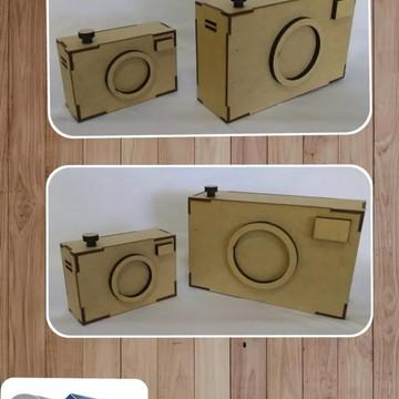 2 Câmeras Fotográficas Decorativa-estúdio Em Mdf