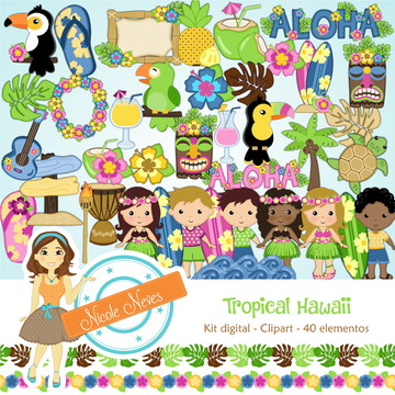 TROPICAL HAWWAI - CLIPART