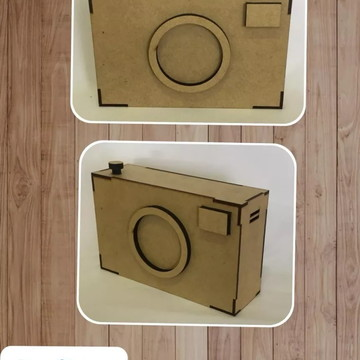 Câmera Fotográfica Decorativa-estúdio Em Mdf