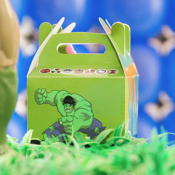 Caixinha Surpresa Personalizada no Tema Hulk