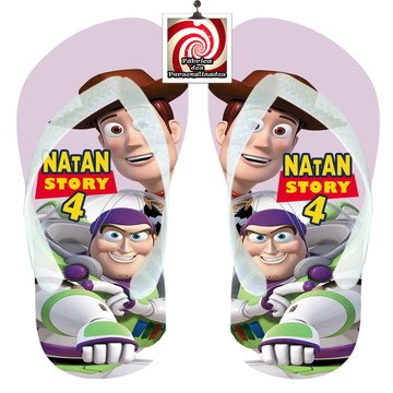 Woody e Buzz Toy Story Chinelo Sandália Lembrancinha Níver