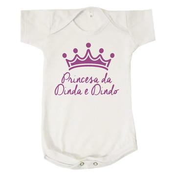 Body Infantil Princesa da Dinda e Dindo Personalizado