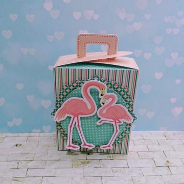 Caixa porta doces Flamingo