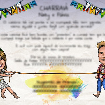 Caricatura para Convite