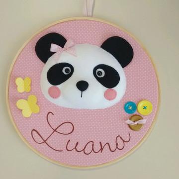 Quadro Porta Maternidade urso Panda