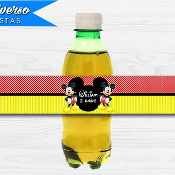 Rótulo para refrigerante - Mickey