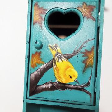 Porta Papel Higiênico - Folhas de Outono