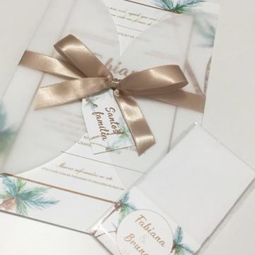 Convite Casamento Praia