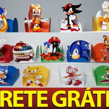 100 Forminha para docinhos Sonic Games