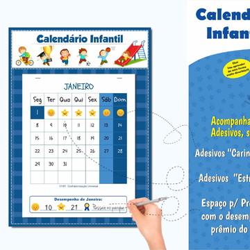 Calendário Infantil do Comportamento