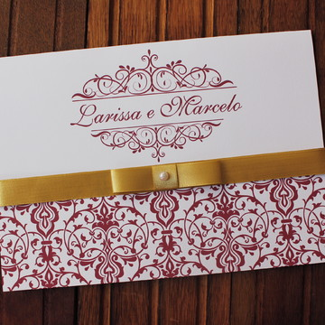 Convite Casamento - Convite 15 anos marsala dourado promocao
