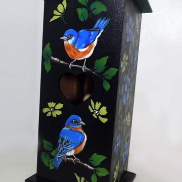 Porta Papel Higiênico - Pássaros azuis