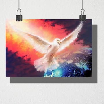 Poster A4 Pomba da paz