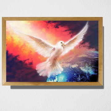 Quadro A3 Pomba da paz