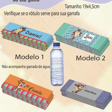 Rótulo Água Mineral-Taz Mania