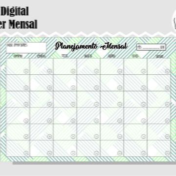 PLANNER MENSAL 27 - ARTE DIGITAL