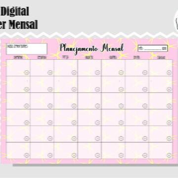 PLANNER MENSAL 26 - ARTE DIGITAL