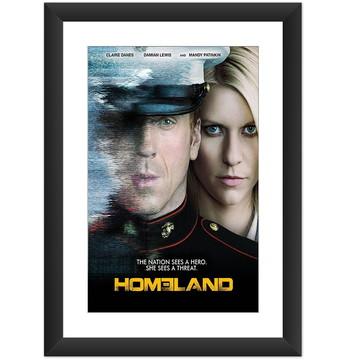 Quadro Homeland Segurança Nacional Serie Filme Tv Decoracao