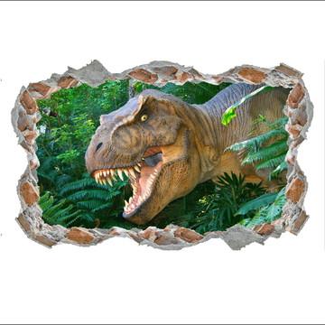 87e2b6768 Adesivo Buraco Dinossauro 3d