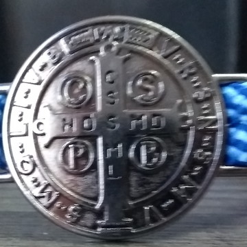 Pulseira Medalha de São Bento - Cordão