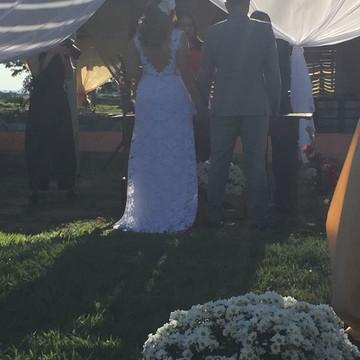vestido de casamento campo