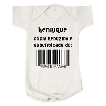 Body Bebê Cópia Reduzida e Autenticada Papai Mamãe