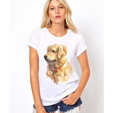 Camiseta Baby Look Golden Retriever