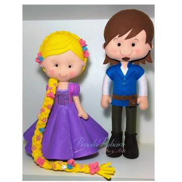Rapunzel e Flynn Luxo - Feltro