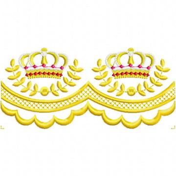 Matriz Bordado Barrinha com Coroa Agulha Feliz Matrizes