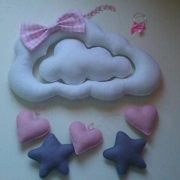 Móbile de berço Nuvem e Estrelas