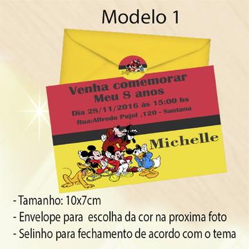 Convite-Turma do Mickey