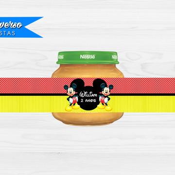 Rótulo adesivo para papinha - Mickey