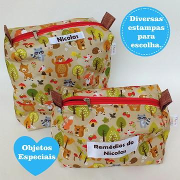 Kit Conjunto de Necessaire Infantil para banho e remédios