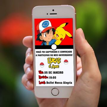Arte/Convite digital - Pokemon