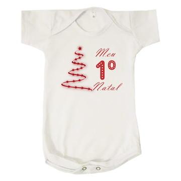 Body Bebê Infantil Meu 1º Primeiro Natal Unissex