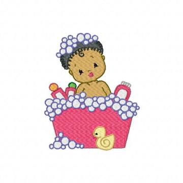 Hora do Banho Bebê PES e JEF Matriz para Bordado